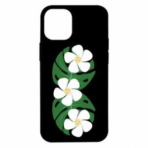 Etui na iPhone 12 Mini Monstera z kwiatami
