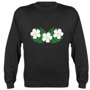 Bluza (raglan) Monstera z kwiatami