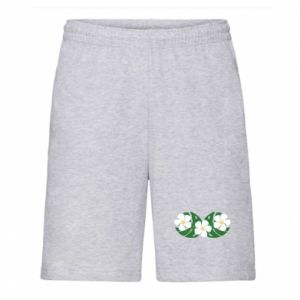 Men's shorts Monstera with flowers
