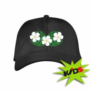 Kids' cap Monstera with flowers - PrintSalon