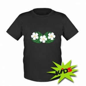 Kids T-shirt Monstera with flowers