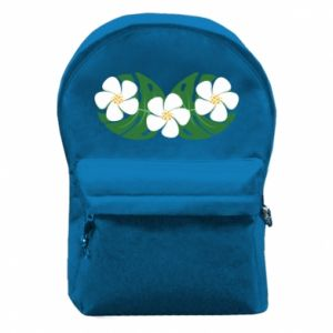 Backpack with front pocket Monstera with flowers - PrintSalon