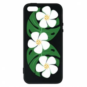 Phone case for iPhone 5/5S/SE Monstera with flowers - PrintSalon