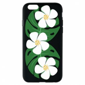 Phone case for iPhone 6/6S Monstera with flowers - PrintSalon