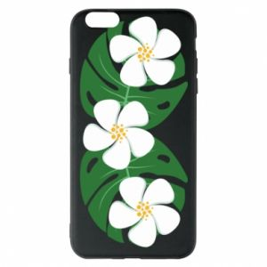 Phone case for iPhone 6 Plus/6S Plus Monstera with flowers - PrintSalon