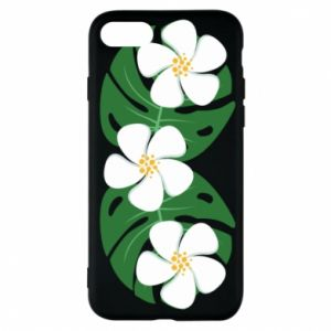 Phone case for iPhone 7 Monstera with flowers - PrintSalon