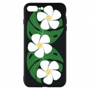 Phone case for iPhone 7 Plus Monstera with flowers - PrintSalon