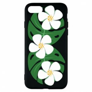 Phone case for iPhone 8 Monstera with flowers - PrintSalon