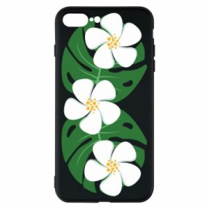 Phone case for iPhone 8 Plus Monstera with flowers - PrintSalon