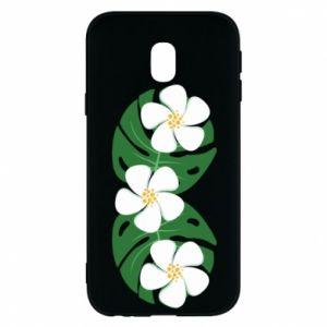 Phone case for Samsung J3 2017 Monstera with flowers - PrintSalon