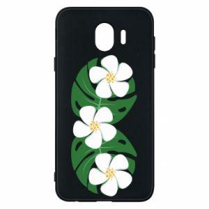 Phone case for Samsung J4 Monstera with flowers - PrintSalon