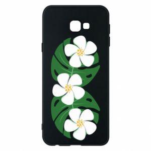 Phone case for Samsung J4 Plus 2018 Monstera with flowers - PrintSalon