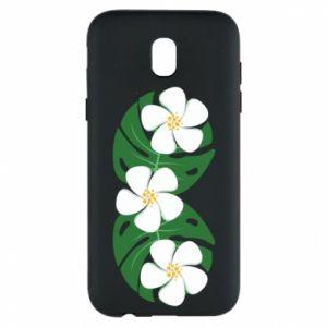 Phone case for Samsung J5 2017 Monstera with flowers - PrintSalon
