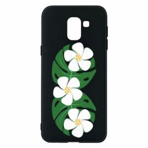 Phone case for Samsung J6 Monstera with flowers - PrintSalon