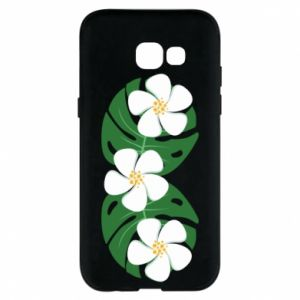 Phone case for Samsung A5 2017 Monstera with flowers - PrintSalon