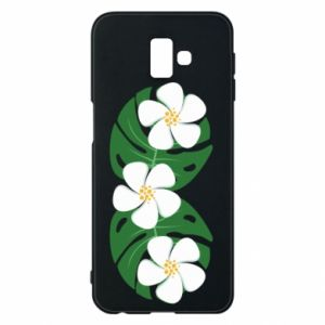 Phone case for Samsung J6 Plus 2018 Monstera with flowers - PrintSalon