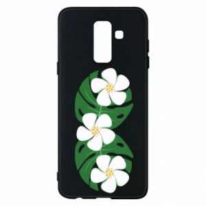 Phone case for Samsung A6+ 2018 Monstera with flowers - PrintSalon