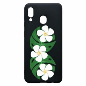 Phone case for Samsung A30 Monstera with flowers - PrintSalon