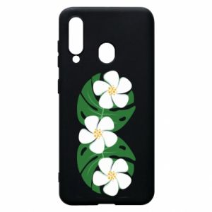 Phone case for Samsung A60 Monstera with flowers - PrintSalon
