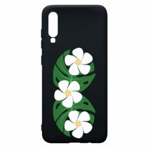 Phone case for Samsung A70 Monstera with flowers - PrintSalon
