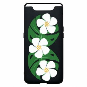 Phone case for Samsung A80 Monstera with flowers - PrintSalon