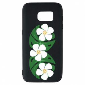 Phone case for Samsung S7 Monstera with flowers - PrintSalon