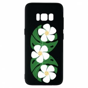 Phone case for Samsung S8 Monstera with flowers - PrintSalon
