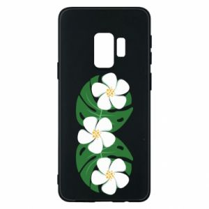 Phone case for Samsung S9 Monstera with flowers - PrintSalon