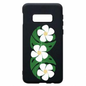 Phone case for Samsung S10e Monstera with flowers - PrintSalon