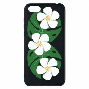 Phone case for Huawei Y5 2018 Monstera with flowers - PrintSalon