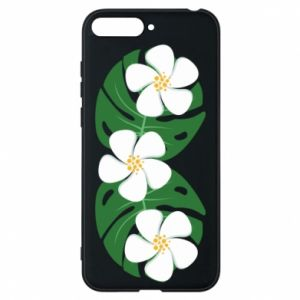 Phone case for Huawei Y6 2018 Monstera with flowers - PrintSalon