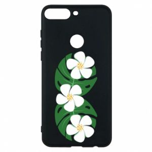 Phone case for Huawei Y7 Prime 2018 Monstera with flowers - PrintSalon