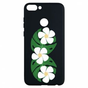 Phone case for Huawei P Smart Monstera with flowers - PrintSalon