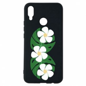 Phone case for Huawei P Smart Plus Monstera with flowers - PrintSalon