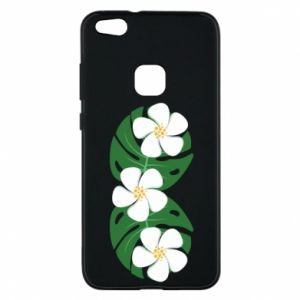 Phone case for Huawei P10 Lite Monstera with flowers - PrintSalon