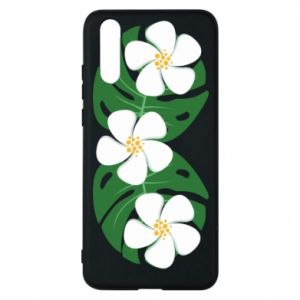 Phone case for Huawei P20 Monstera with flowers - PrintSalon