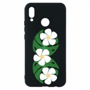 Phone case for Huawei P20 Lite Monstera with flowers - PrintSalon