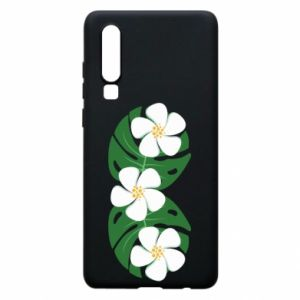 Phone case for Huawei P30 Monstera with flowers - PrintSalon