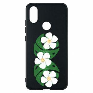 Phone case for Xiaomi Mi A2 Monstera with flowers - PrintSalon