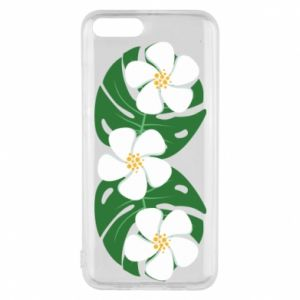 Phone case for Xiaomi Mi6 Monstera with flowers - PrintSalon