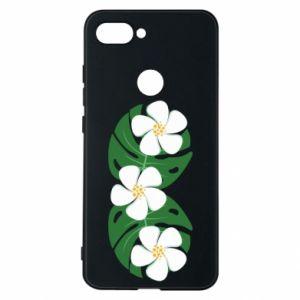 Phone case for Xiaomi Mi8 Lite Monstera with flowers - PrintSalon