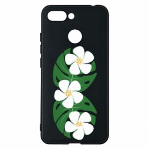 Phone case for Xiaomi Redmi 6 Monstera with flowers - PrintSalon