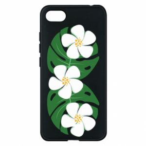 Phone case for Xiaomi Redmi 6A Monstera with flowers - PrintSalon