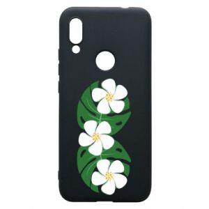 Phone case for Xiaomi Redmi 7 Monstera with flowers - PrintSalon