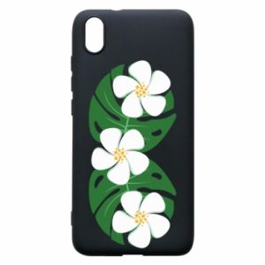 Phone case for Xiaomi Redmi 7A Monstera with flowers - PrintSalon