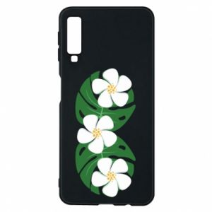 Phone case for Samsung A7 2018 Monstera with flowers - PrintSalon