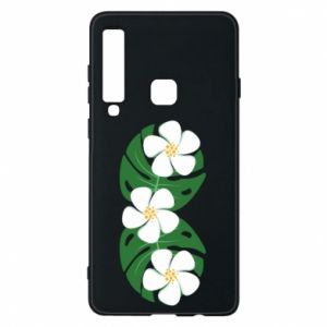 Phone case for Samsung A9 2018 Monstera with flowers - PrintSalon