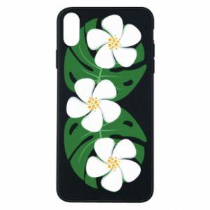 Etui na iPhone Xs Max Monstera z kwiatami
