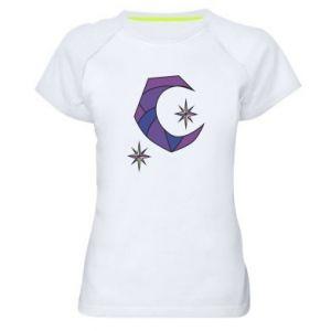 Koszulka sportowa damska Księżyc i gwiazdy