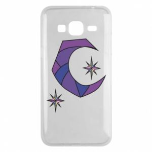 Etui na Samsung J3 2016 Moon and stars